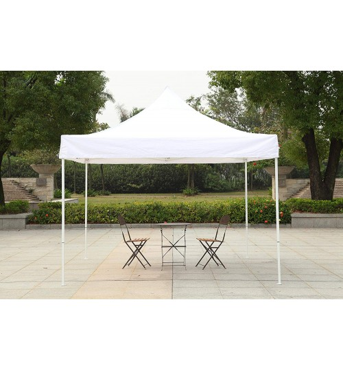 American Phoenix 10x10 [White Frame] Portable Event Canopy Tent, Canopy Tent, Party Tent Gazebo Canopy Commercial Fair Shelter Car Shelter Wedding Party Easy Pop Up (White, 10x10)