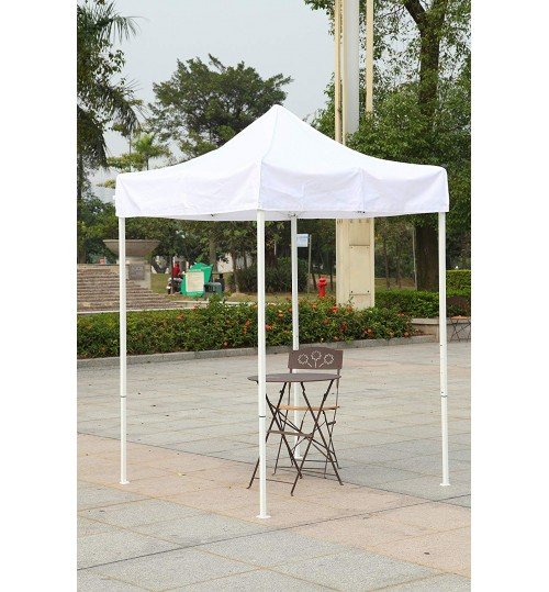 American Phoenix Multicolor Canopy Tent 5x5 Feet Party Tent [White Frame] Gazebo Canopy Commercial Fair Shelter Car Shelter Wedding Party Easily Pop Up