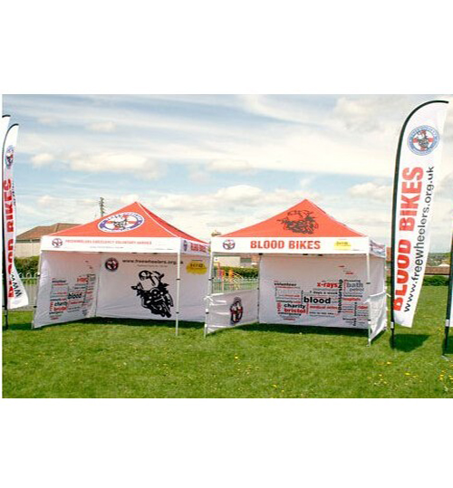 "American Phoenix 10""x10"" Digital Graphics Logo Printed Custom Event Easy Pop Up Canopy Tent+ Printed Custom Side Wall available (Black Frame, 10""x10"" Canopy with 3 sidewall  )"